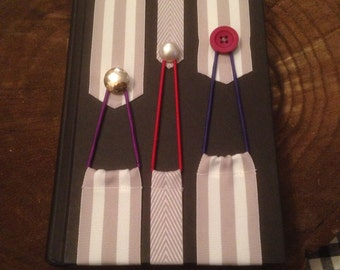 Gray Scale Ribbon Bookmarks