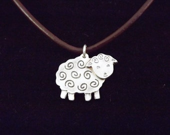 Sheep Pendant, Sterling Silver