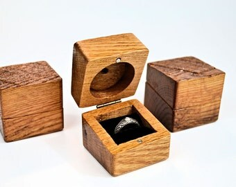 Oak ring box