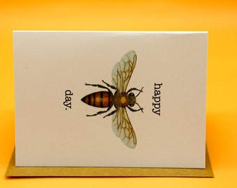 """Happy """"Bee"""" Day Card x 4"""