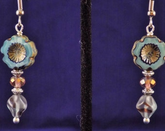 Tall flower earrings