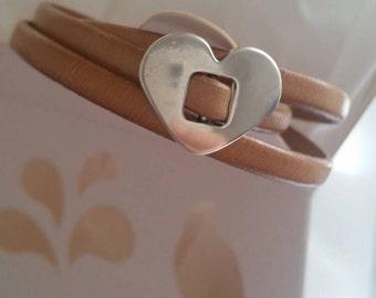 Eco leather Bracelet  - Handmade