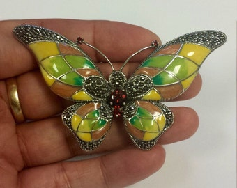 Large Sterling Silver .925 Butterly Pendant