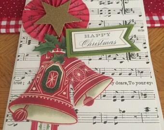 Hand Made Christmas Card Happy Christmas