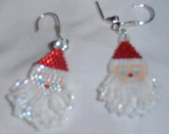 Santa Face Earrings