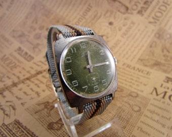 Soviet Watch Pobeda.ZIM Russian Men Mechanical Wristwatch USSR. Soviet Era watch.RareAntiquesShop