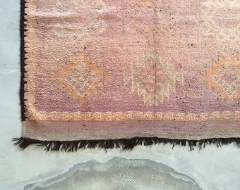 "Vintage Moroccan Rug Beni Ouarain Ourain 'You're Mine' Beni 5'4"" x 9'10"" - 1.65m x 3.00m"