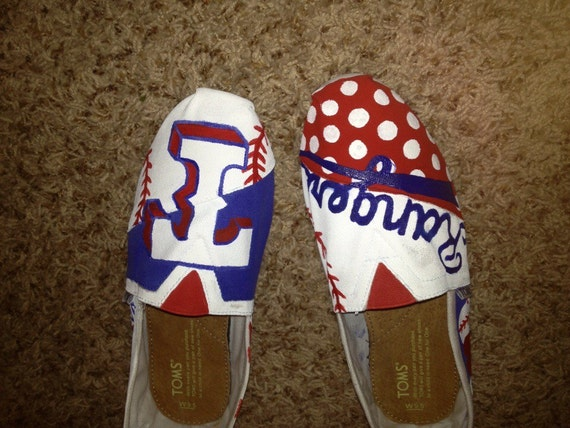 Custom sports team painted Toms!
