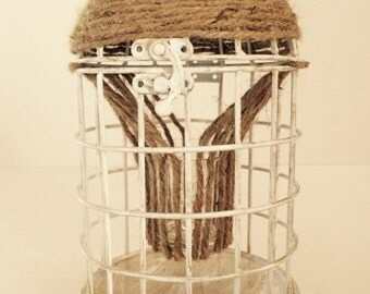 Cage tea light candle holder