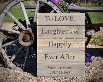 Rustic Plank Wedding Sign, anniversary sign
