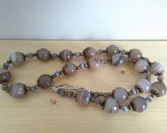 Long necklace, jade.