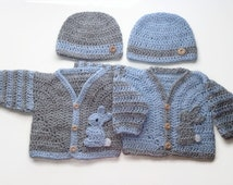 Twin baby boys sweater and hat outfit Easter twin outfits twin boys go home toddler boys sweater set. Twin baby boy shower gift baby dressup