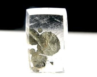 Pyrite in Quartz Cabochon 19mm x 12mm  1-4.5mm depth