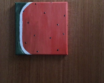 Slice of Melon - Acrylic Painting on Stretched Canvas
