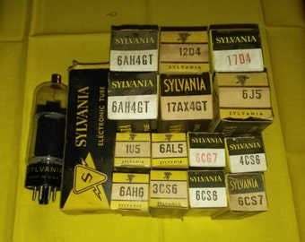 Lot of 15 Sylvania TV and Radio Tubes