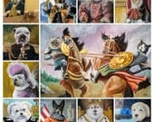 Custom Pet Portrait- Original Oil Painting on Canvas from your Photos
