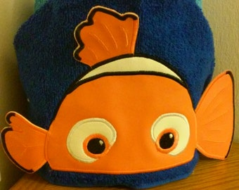 Nemo fish 3d hooded towel