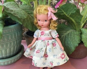 Darling All Original Little Bisque Nancy Ann Storybook Doll