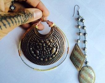 Mix & Match Copper Goddess earrings