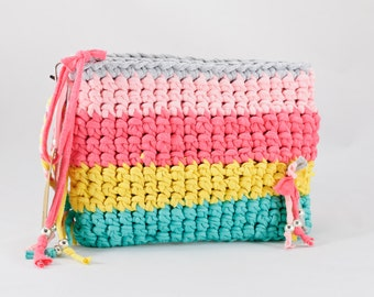 Summer Rainbow Handmade Crochet Bag