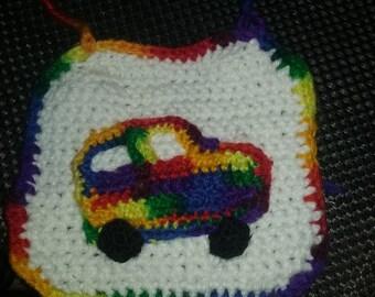 baby bib, crochet baby bib, handmade baby bib