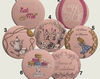 Alice in Wonderland pocket mirror or magnet