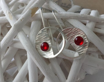 Silver and resin earrings