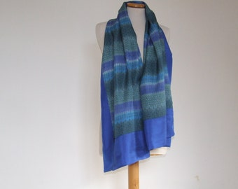 Cornflower blue silk scarf