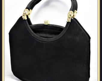 Vintage Satin Evening Bag,Vintage Satin Handbag,Vintage Rosenfeld Handbag,Vintage Rosenfeld Evening Bag,Vintage Rosenfeld Pocketbook,Vintage