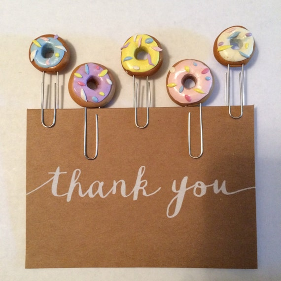 Doughnut Paper Clips - Dounghnut Bookmark - Doughnut Paper Clip - Doughnut Paperclips - Doughnut Bookmarks - Fun Bookmarks - Office Supplies