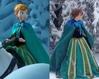Frozen Anna Coronation Green Cloak Cape
