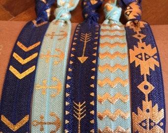 Hair Tie Bracelets: Esmerelda / Creaseless Hair Ties