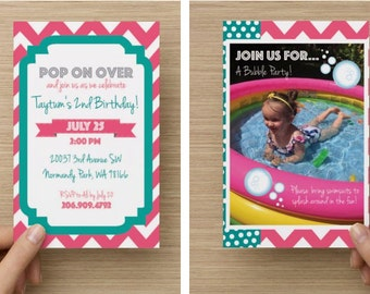 Kid's Party Themed Invites