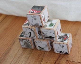 6 Olivia Wooden Blocks