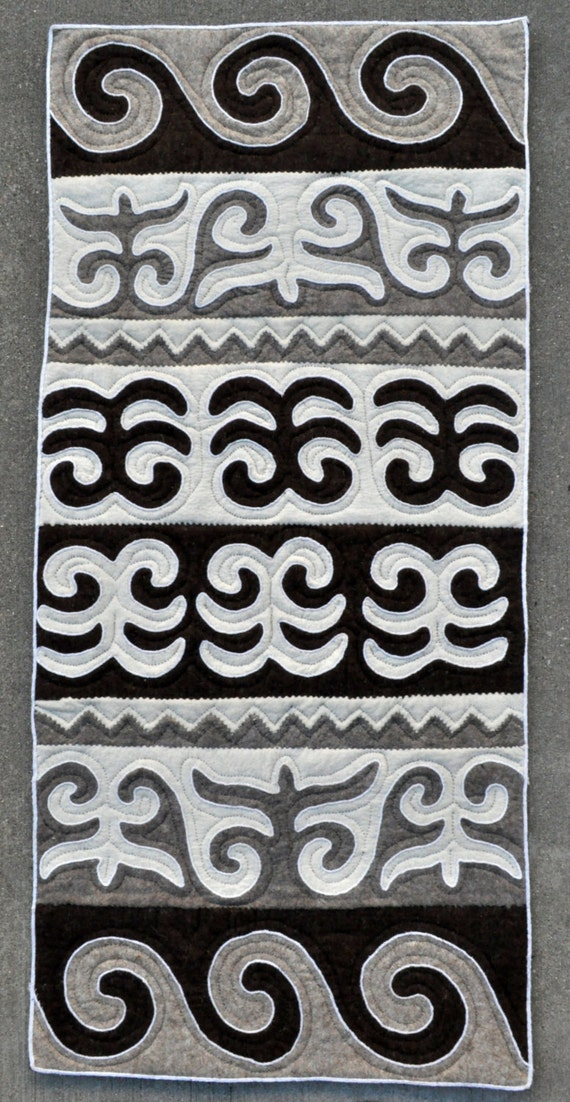 "Felt Rug Kyrgyz Shirdak carpet - 28"" x 60"" - 71 x 154 cm. - 100% wool - Free shipping!"