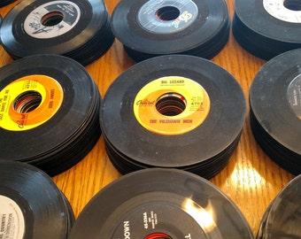 Lot of 20 Random Vintage 45 RPM Records