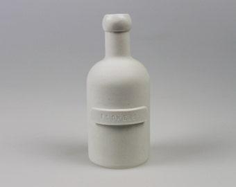Archive Flower Bottle in White Porcelain - ceramic - pottery - vase