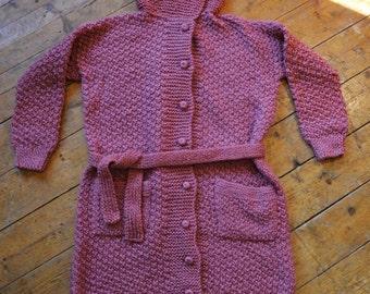 Modern handmade knitwear cardigan