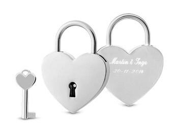 Engraved love padlock