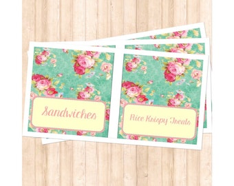 Shabby Chic Food Labels