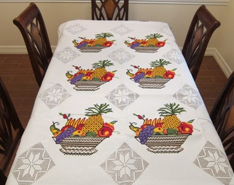 Mexican Embroidered  Tablecloth