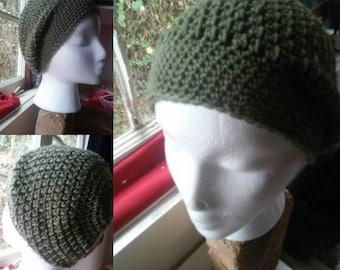 slightly slouchy crochet hats