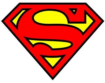 SUPERMAN LOGO Iron on transfer