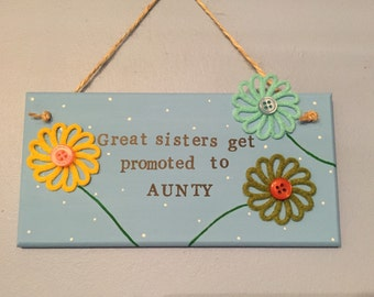 Sister / Aunty Flower Plaque