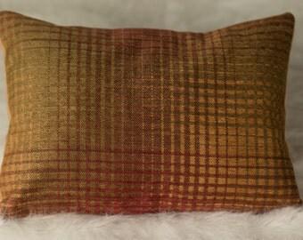 Exclusive 12x16 Rust/Gold/Red/Burgundy Decorative Throw Lumbar Pillow