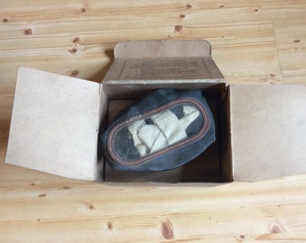 World War Two gas mask with box