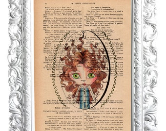 The key. Print on French publication of illustration. 28x19cm.