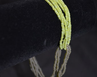 2 toned green anklet