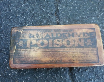 Formaldehyde Poison Wooden Sign