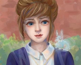Semi-realism fantasy anime portrait